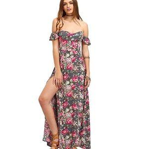 Dresses & Skirts - Off Shoulder Floral Split Dress